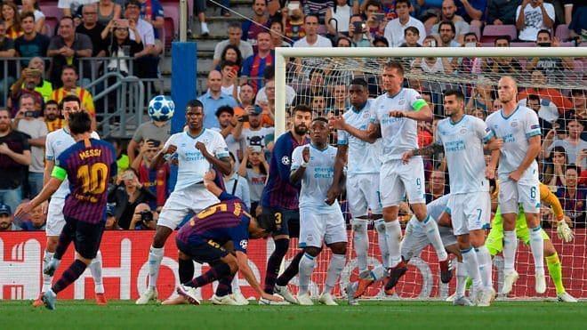 Messi free-kick