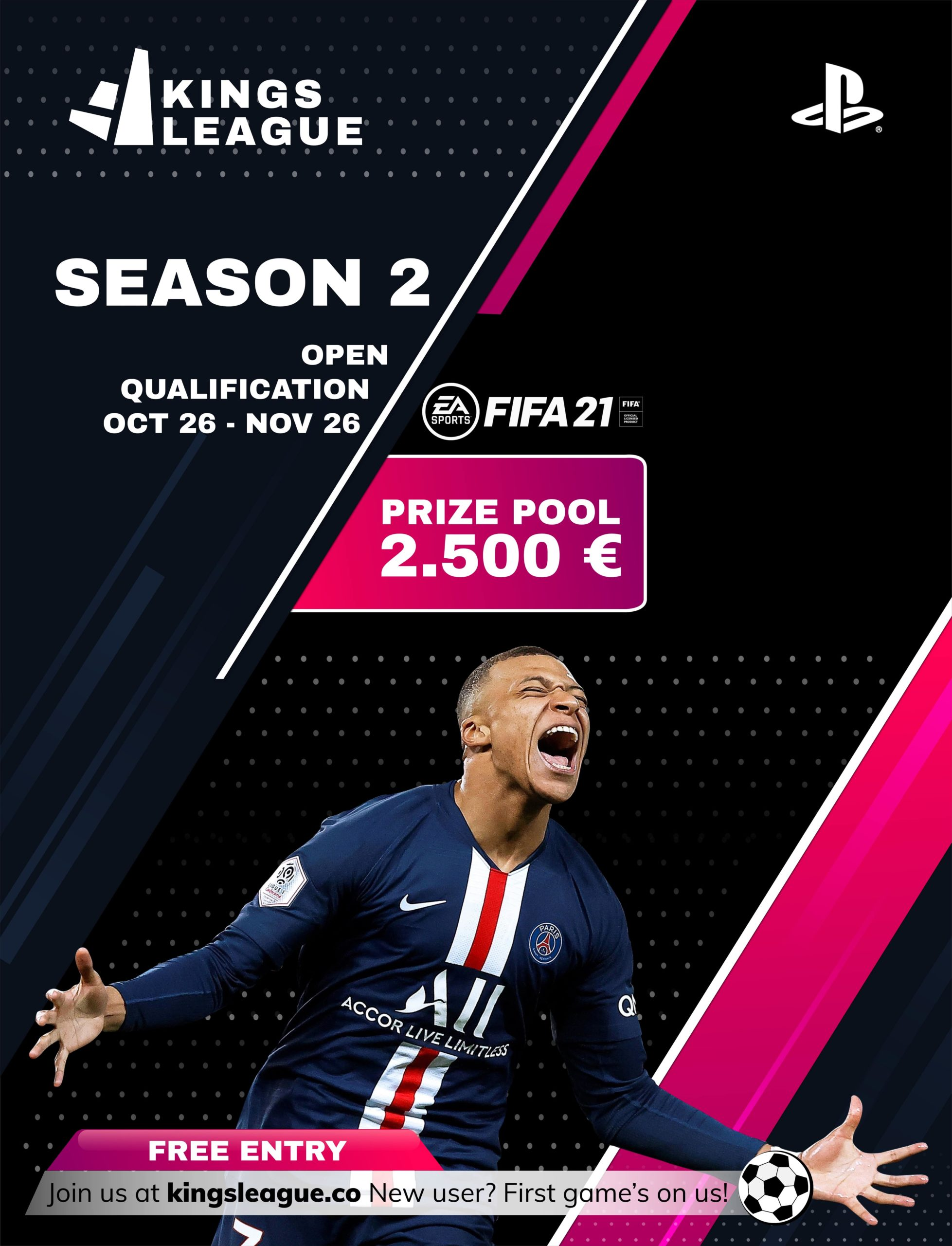 kingsleague season 2 fifa 21 and fut 21 poster