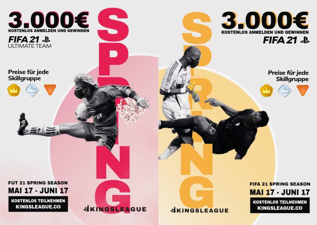 Kingsleague Spring Season posters